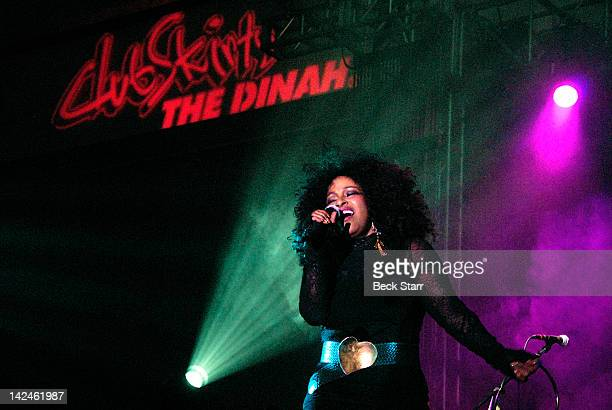 Singer Chaka Khan Performs at 2012 Club Skirts Dinah Shore Weekend at Palm Springs Convention Center on March 31 2012 in Palm Springs California