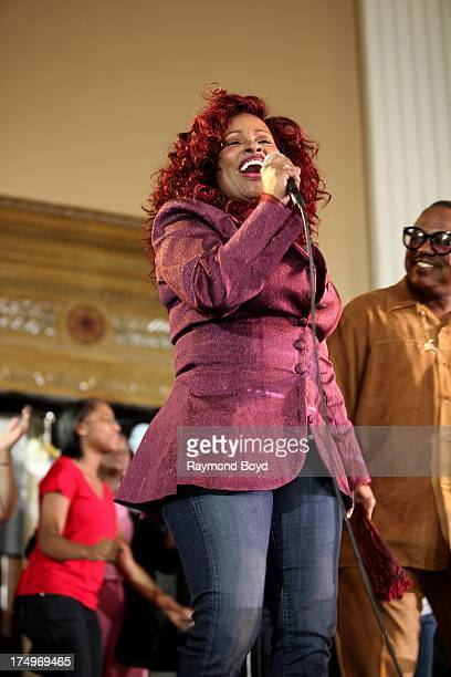Singer Chaka Khan performs at the Rainbow PUSH National Headquarters in Chicago Illinois on JULY 27 2013