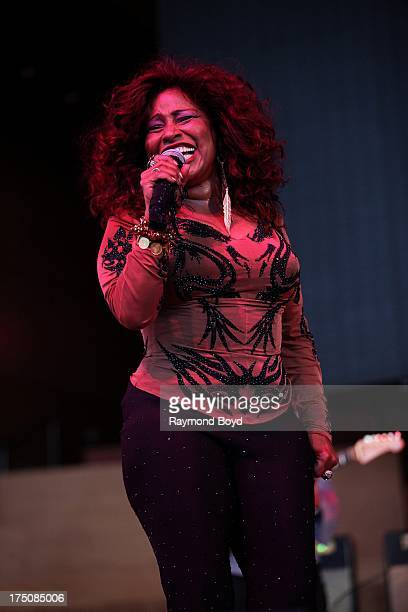 Singer Chaka Khan performs during her '40th Anniversary In Music 60th Birthday Celebration' concert at the Jay Pritzker Pavilion in Chicago Illinois...