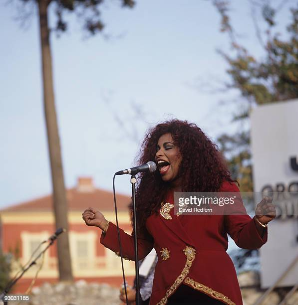 Singer Chaka Khan performs on stage at the Nice Jazz Festival held in Nice France in July 1993