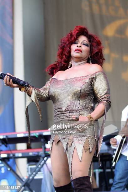 Singer Chaka Khan performs on the Petrillo Music Shell during the 32nd Annual 'Taste Of Chicago' in Chicago Illinois on JULY 14 2012