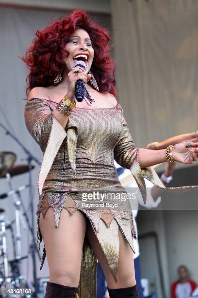 Singer Chaka Khan performs on the Petrillo Music Shell during the 32nd Annual Taste Of Chicago in Chicago Illinois on JULY 14 2012