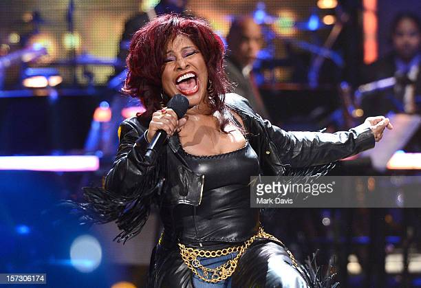 Singer Chaka Khan performs onstage during UNCF's 34th annual An Evening Of Stars held at Pasadena Civic Auditorium on December 1 2012 in Pasadena...