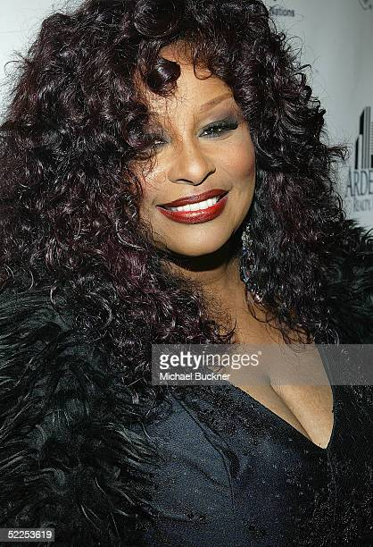 Singer Chaka Khan poses for pictures at the 6th Annual Awards Celebration Viewing Dinner for Children Uniting Nations on February 27 2005 at the...