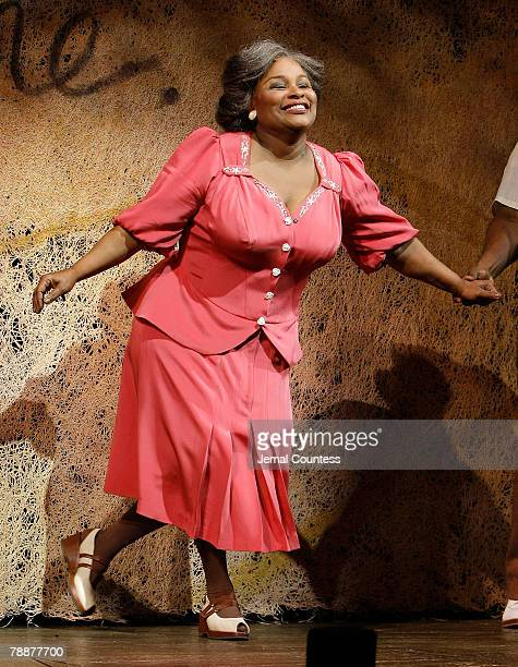 Singer Chaka Khan takes a bow following her debut in the broadway production of The Color Purple at the Broadway Theatre on January 9 2007 in New...