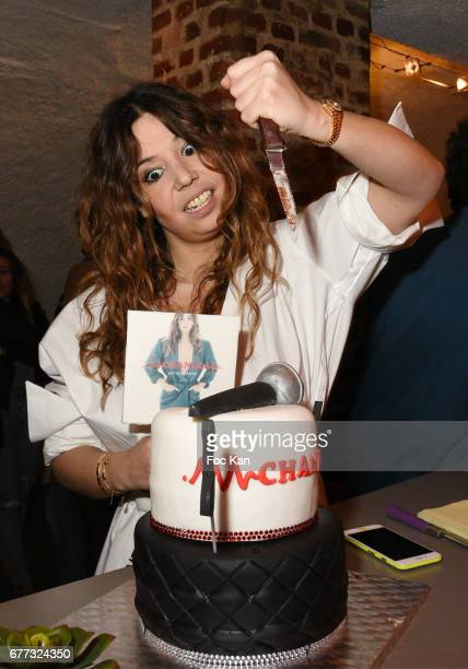 Singer Chanez attends 'Attachiante' Chanez Concert and Birthday Party at Sentier des Halles Club on May 2 2017 in Paris France