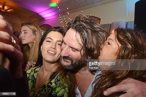 Singer Chanez Frederic Beigbeder and his wife Lara Miceli Beigbeder attend the 'Prix De Flore 2015 ' Literary Prize Winner Announcement at Cafe de...