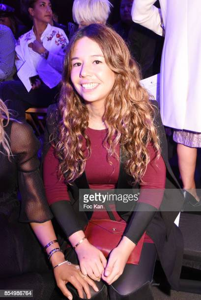 Singer Chanez TaÊattends the Christophe Guillarme Show as part of the Paris Fashion Week Womenswear Spring/Summer 2018 on September 27 2017 in Paris...