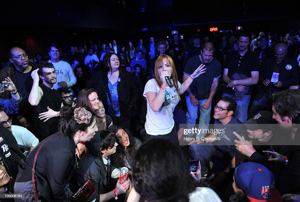 Singer Chantal Claret of of Morningwood performs at the Joey Ramone Foundation For Lymphoma Research benefit concert at The Fillmore New York at Irving Plaza on May 19, 2010 in New York City.