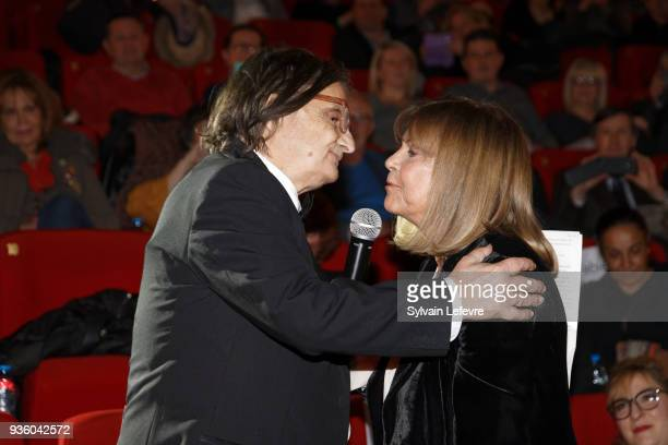 Singer Chantal Goya attends tribute to JeanPierre Leaud during Valenciennes Film Festival on March 21 2018 in Valenciennes France
