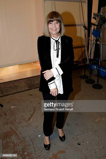 Singer Chantal Goya attends 'Vivement Dimanche' French TV Show at Pavillon Gabriel on December 2 2015 in Paris France