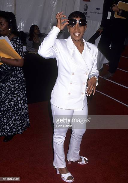 Singer Chantay Savage attends the 10th Annual Soul Train Music Awards on March 29 1996 at the Shrine Auditorium in Los Angeles California