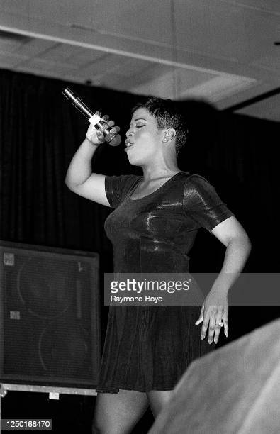 Singer Chantay Savage performs at the Hyatt Hotel in Chicago, Illinois in June 1994.
