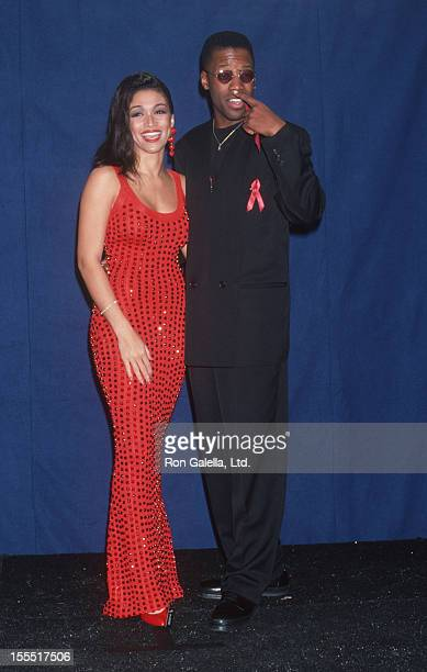 Singer Chante Moore and actor Kadeem Hardison attend 25th Annual NAACP Image Awards on January 16 1993 at the Pasadena Civic Auditorium in Pasadena...