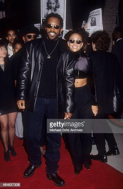 Singer Chante Moore and actor Kadeem Hardison attend the premiere of the movie Panther in May 1995 in Los Angeles CA