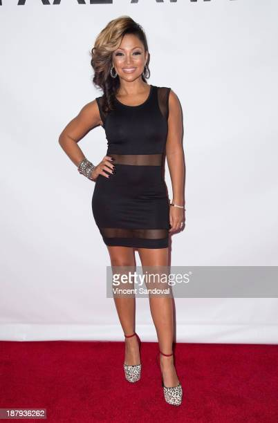Singer Chante Moore attends the LAPD South Los Angeles PAAL Fundraising Gala hosted by Jamie Kennedy at Petersen Automotive Museum on November 13...
