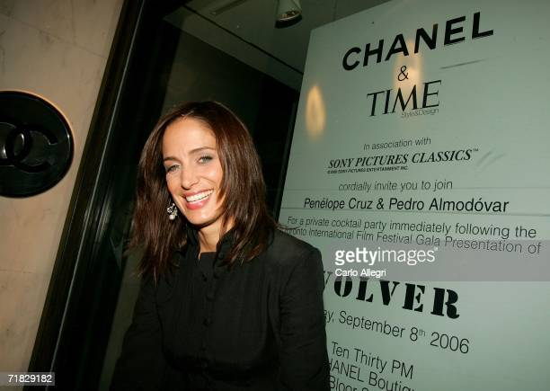 Singer Chantel Kreviazuk attends the after party for the film Volver hosted by CHANEL at the Chanel boutique during the Toronto International Film...