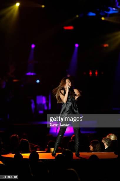 Singer Charice Pempengco performs at the 14th annual Andre Agassi Charitable Foundation's Grand Slam for Children benefit concert at the Wynn Las...