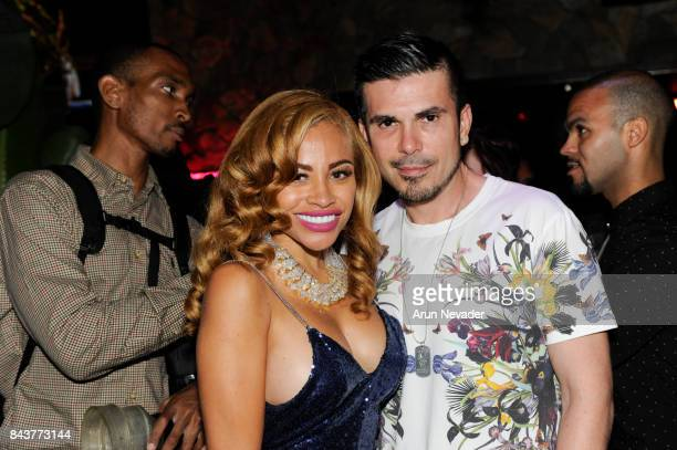 Singer Charisse Mills and Art Hearts Fashion Executive Director and Founder Erik Rosete appear at the Art Hearts Fashion Week Opening Gala at The DL...