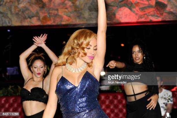 Singer Charisse Mills performs at the Art Hearts Fashion Week Opening Gala at The DL on September 6 2017 in New York City