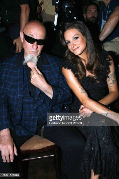 Singer Charlelie Couture and Godmother of the Collection daughter of Lio singer Nubia Esteban attend the Franck Sorbier Haute Couture Fall/Winter...