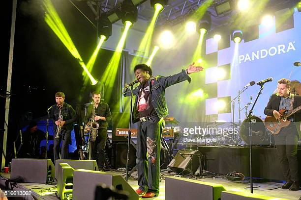 Singer Charles Bradley and The Extraordinaires perform onstage at Pandora Discovery Den during the 2016 SXSW Music Film Interactive Festival at The...