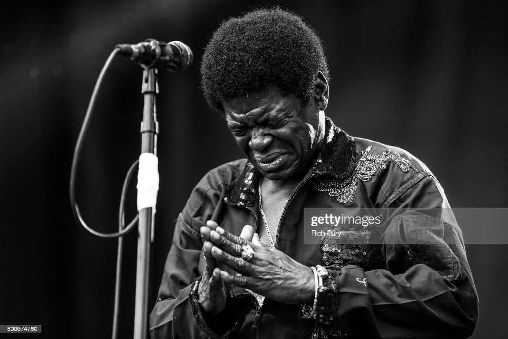 Singer Charles Bradley performs on the Sycamore stage during Arroyo Seco Weekend at the Brookside Golf Course at on June 24, 2017 in Pasadena, California.