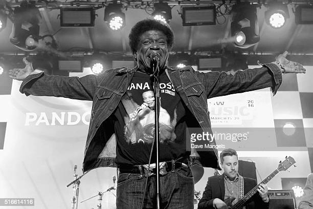 Singer Charles Bradley performs onstage at Pandora Discovery Den during the 2016 SXSW Music Film Interactive Festival at The Gatsby on March 19 2016...