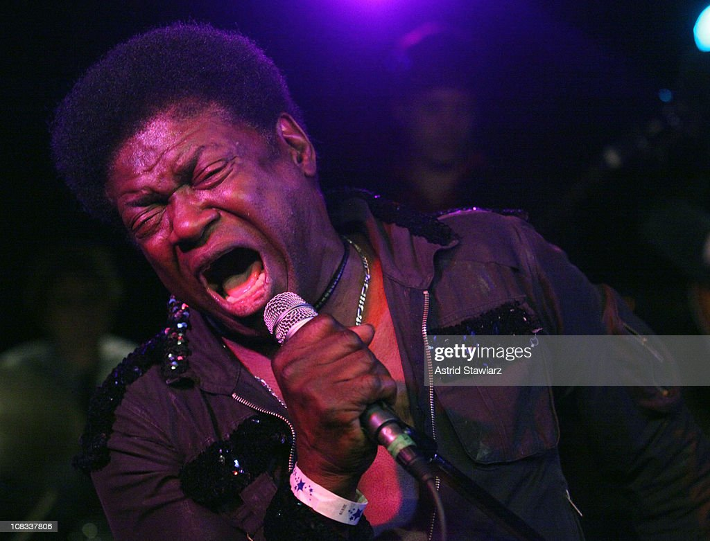 Singer Charles Bradley & The Menahan Street Band peform during the Charles Bradley Album Release party at Southpaw on January 25, 2011 in New York City.