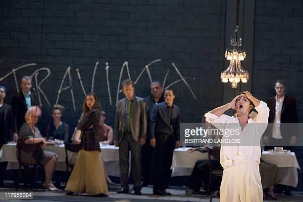 Singer Charles Castronovo featuring Alfredo Germont performs Italian composer Giuseppe Verdi's opera La Traviata directed by JeanFrancois Sivadier...