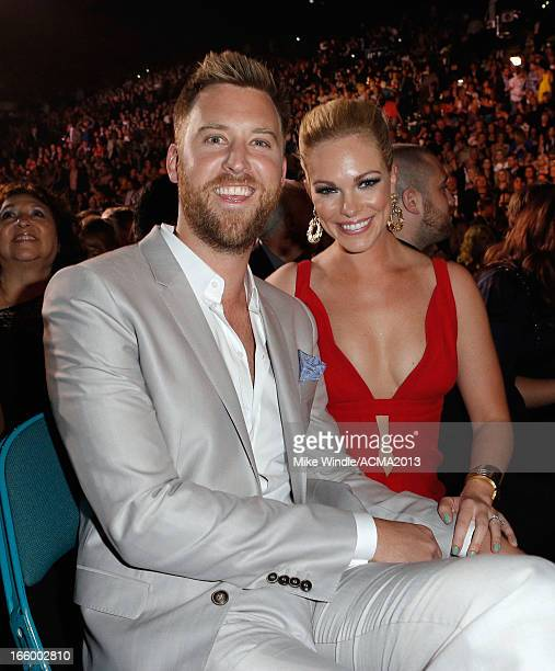 Singer Charles Kelley of Lady Antebellum and Cassie McConnell attend the 48th Annual Academy of Country Music Awards at the MGM Grand Garden Arena on...