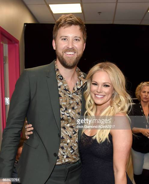 Singer Charles Kelley of Lady Antebellum and Cassie McConnell attend the 52nd Academy Of Country Music Awards at TMobile Arena on April 2 2017 in Las...