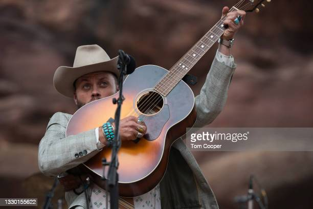 Singer Charley Crockett opens for Orville Peck during his Summertime Tour at Red Rocks Amphitheatre on July 22, 2021 in Morrison, Colorado.