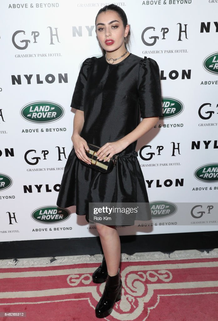 Singer Charli XCX attends NYLON's Rebel Fashion Party, powered by Land Rover, at Gramercy Terrace at Gramercy Park Hotel on September 12, 2017 in New York City.