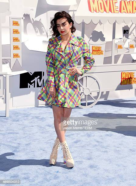 Singer Charli XCX attends The 2015 MTV Movie Awards at Nokia Theatre LA Live on April 12 2015 in Los Angeles California