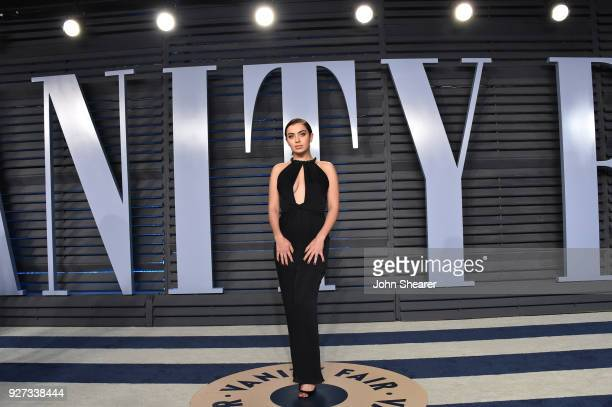 Singer Charli XCX attends the 2018 Vanity Fair Oscar Party hosted by Radhika Jones at Wallis Annenberg Center for the Performing Arts on March 4 2018...