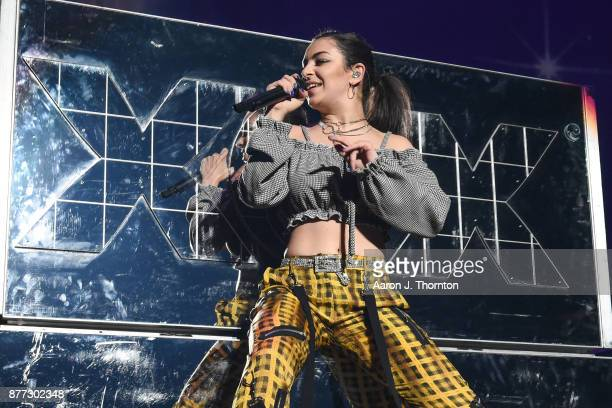 Singer Charli XCX performs on stage at Little Caesars Arena on November 21 2017 in Detroit Michigan