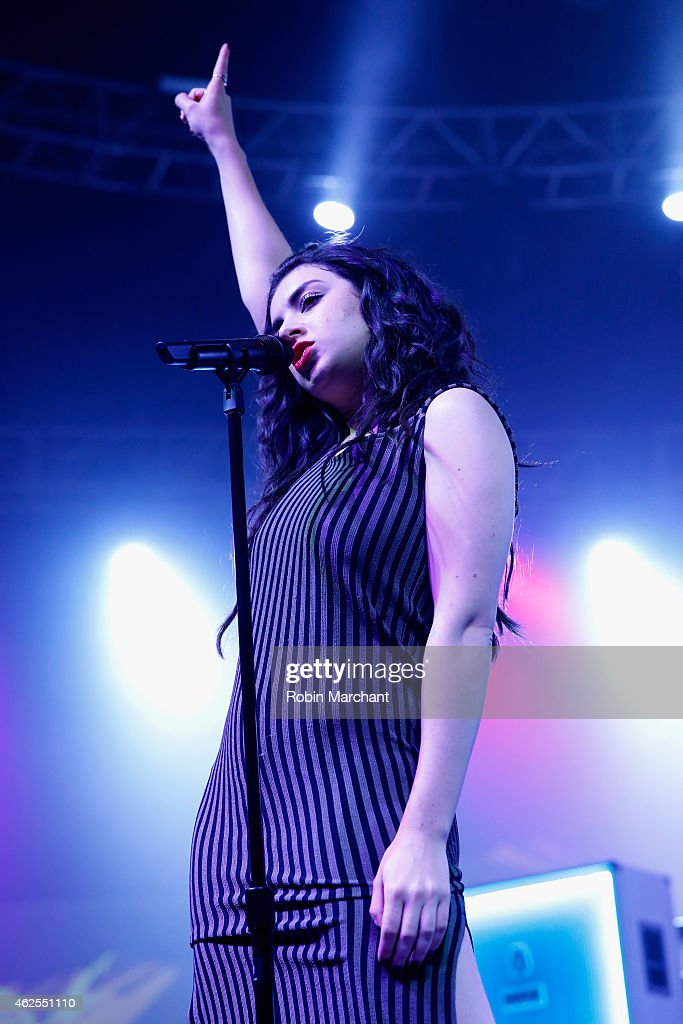Singer Charli XCX performs onstage at ESPN the Party at WestWorld of Scottsdale on January 30, 2015 in Scottsdale, Arizona.