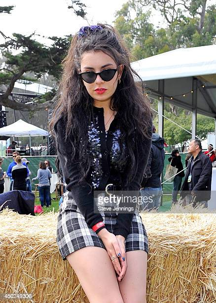 Singer Charli XCX poses backstage during Chipotle's Cultivate San Francisco Food Music and Ideas Festival at Golden Gate Park on June 7 2014 in San...