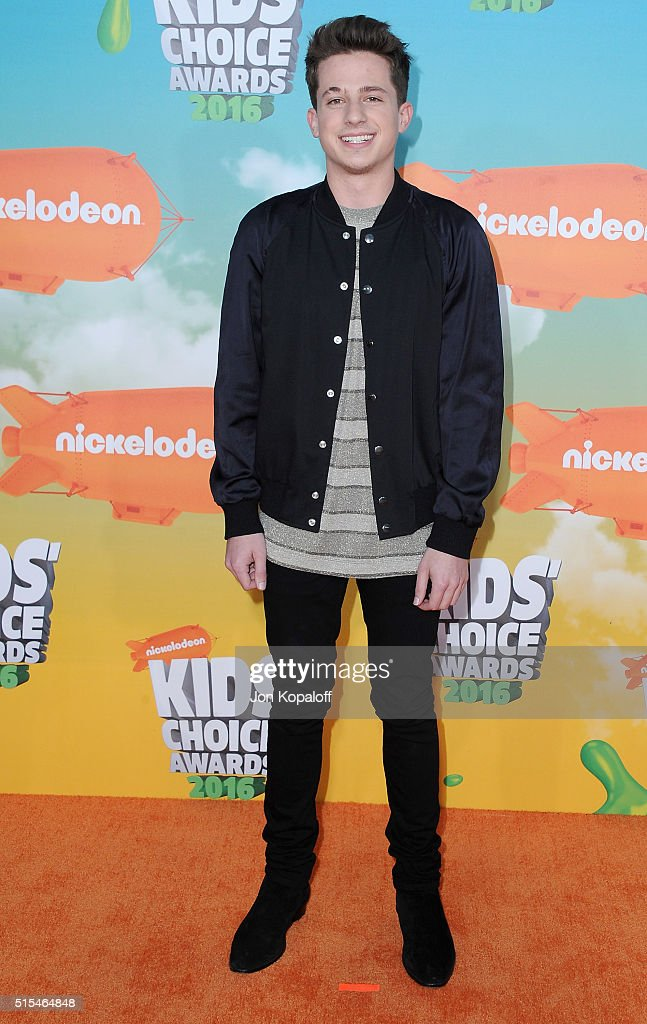 Singer Charlie Puth arrives at Nickelodeon's 2016 Kids' Choice Awards at The Forum on March 12, 2016 in Inglewood, California.