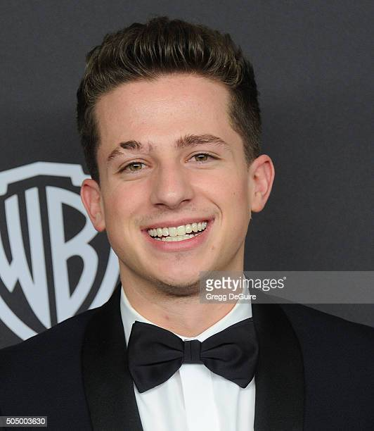 Singer Charlie Puth arrives at the 2016 InStyle And Warner Bros 73rd Annual Golden Globe Awards PostParty at The Beverly Hilton Hotel on January 10...