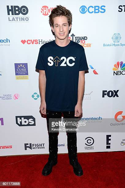 Singer Charlie Puth attends Hollywood Unites for the 5th Biennial Stand Up To Cancer A Program of The Entertainment Industry Foundation at Walt...