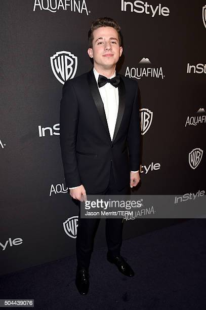 Singer Charlie Puth attends The 2016 InStyle And Warner Bros 73rd Annual Golden Globe Awards PostParty at The Beverly Hilton Hotel on January 10 2016...