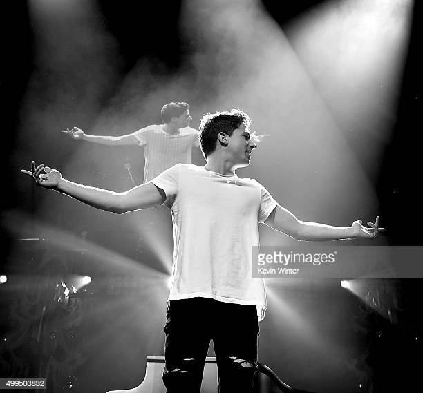Singer Charlie Puth performs onstage during 106.1 KISS FM's Jingle Ball 2015 presented by Capital One at American Airlines Center on December 1, 2015...