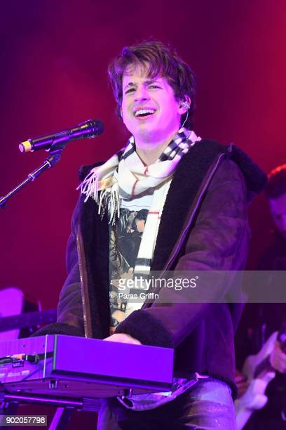 Singer Charlie Puth performs onstage in concert during ATT Playoff Playlist Live at Centennial Olympic Park on January 6 2018 in Atlanta Georgia
