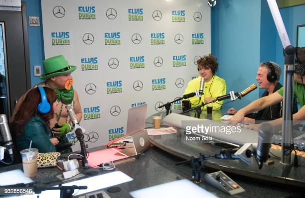 Singer Charlie Puth speaks with Elvis Duran Danielle Monaro and Greg T at 'The Elvis Duran Z100 Morning Show' at Z100 Studio on March 16 2018 in New...