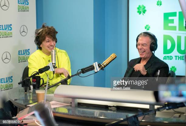 Singer Charlie Puth speaks with host Elvis Duran at The Elvis Duran Z100 Morning Show at Z100 Studio on March 16 2018 in New York City