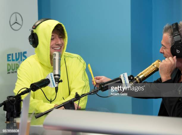 Singer Charlie Puth speaks with host Elvis Duran at 'The Elvis Duran Z100 Morning Show' at Z100 Studio on March 16 2018 in New York City