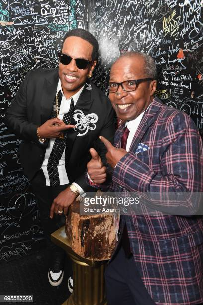Singer Charlie Wilson and Billy Mitchell of the Apollo pose backstage during Apollo Spring Gala 2017 at The Apollo Theater on June 12 2017 in New...