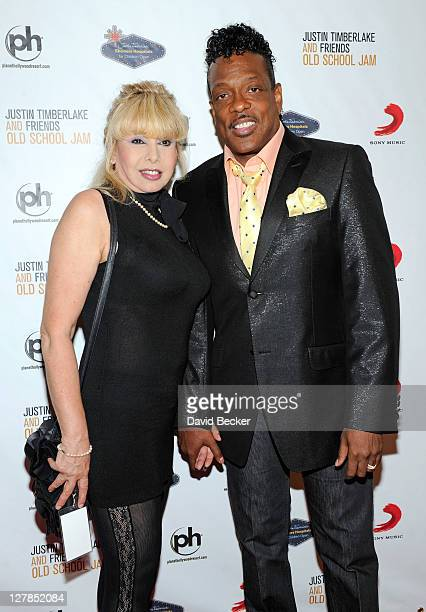 Singer Charlie Wilson and his wife Mahin Wilson arrive for the Justin Timberlake and Friends Old School Jam at the Planet Hollywood Theatre for the...